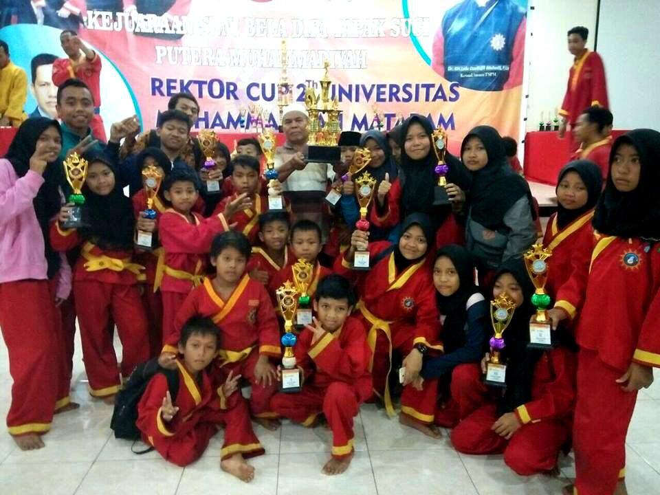 Narmada Juara Umum Kejuaraan Tapak Suci Rektor Cup II universitas muhammadiyah mataram