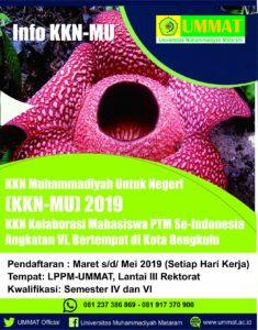 KKN Muhammadiyah Untuk Negeri (KKN-MU) 2019