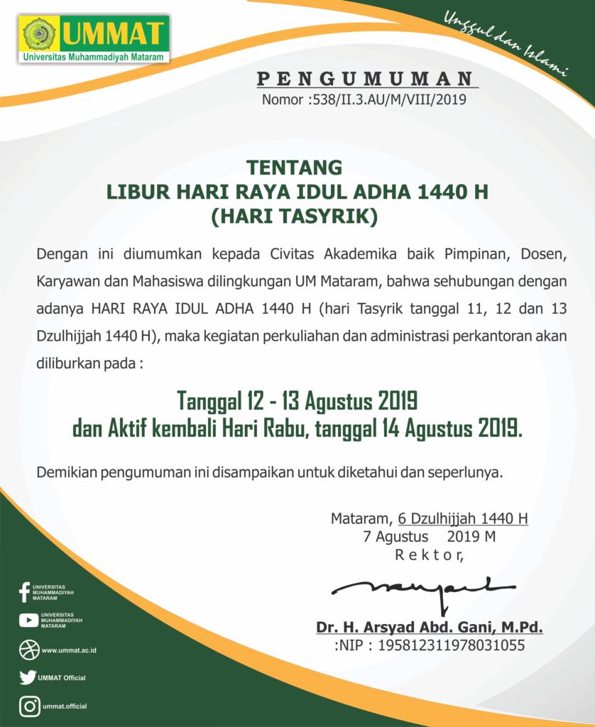IDUL ADHA 1440