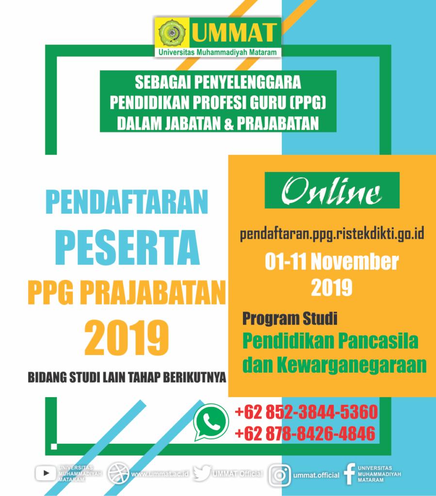 PPG Prajabatan Tahun 2019